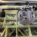 09カルカッタコンクエスト201DC オーバーホール メンテナンス パーツ洗浄完了