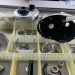 17 クロナーク MGL 150HG オーバーホール パーツ洗浄完了
