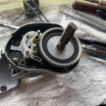 07メタニウムmg7オーバーホール修理 内部パーツ