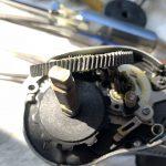 07メタニウムMg7 オーバーホール修理 ギア破損箇所