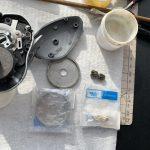 07メタニウムMg7 オーバーホール修理 メインギヤ ピニオンギヤ交換