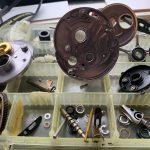09カルカッタコンクエスト200DC パーツ洗浄完了