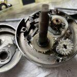 04カルカッタコンクエスト250DC オーバーホール クロスギアギア破損