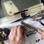 19 スコーピオン MGL 151 HG オーバーホール メインギア洗浄作業