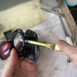 19 スコーピオン MGL パーツ洗浄作業:ボディ洗浄
